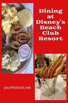 Disney World Tips: Dining Options at Disney's Beach Club Resort | yourfirstvisit.net | #DisneyWorldRestaurants #DisneyWorldDining #DisneyWorldFood #DisneysBeachClubResort Disney World Deals, Disney World Food, Disney World Restaurants, Disney World Planning, Disney Vacation Club, Walt Disney World Vacations, Dining At Disney World, Polynesian Village Resort, Seafood Buffet