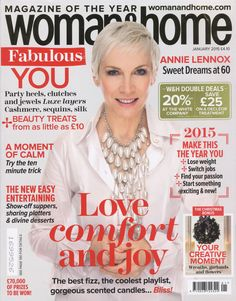 Woman & Home Magazine Cover - January 2015 - Features the Ariane Poole, Gel Eyeliner in Majesty on page 95.