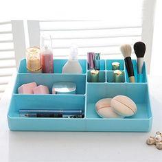 Desktop storage boxes for cosmeticsSize plastic boxCosmetic box sortingB