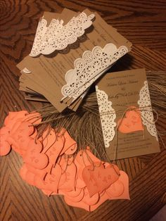 Hand made wedding invites!                                                                                                                                                                                 More