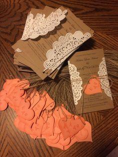 Hand made wedding invites!