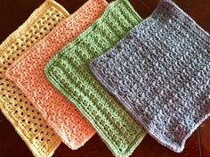I finished a special order of my 8″ spa cloths today. My pieces will become part of a gift set along with handmade coffee scrub by another local crafter! This is a set of 10, 5 each of two st…
