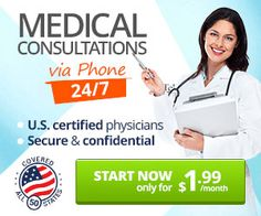Users can sign up for TeleMDcentral and get medical consultations from anywhere by phone! For only $1.99 for their first