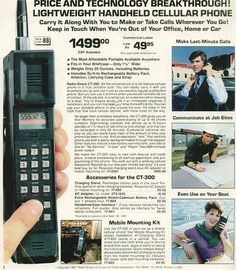 1980's Cell Phone Advertisement by simborg, via Flickr