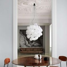 The Stochastic LED Multi-Light Pendant by Luceplan is a light that serves the creative mindset. With glass spheres on end pieces of varying length, this fixture is perfect for anyone that desires something a little different for their living environment. At a near-infinite number of possibilities to pose the pieces in, the piece also utilizes energy-efficient LED bulbs for that warm glow.  #NewArrivals #ModernLighting #Lighting