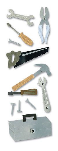 Construction > Tool Box Stickers - A Touch Of Jolee's: Stickers Galore $2.19