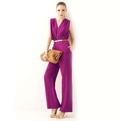 Personalized Solid High Waist Sleeveless Ruffles Women Jumpsuits (Without Belt)