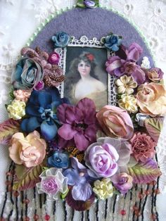 SALE, VINTAGE INSPIRED EMBELLISHED WALL CAMEO