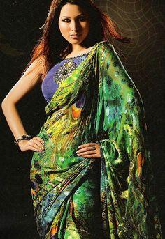 Peacock sari   Flickr - Photo Sharing!