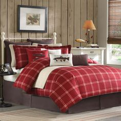 Red plaid bedroom