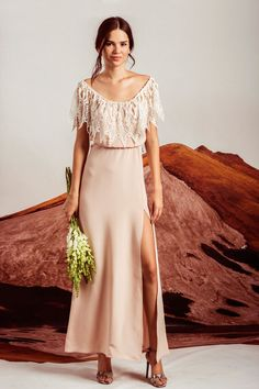 The PENELOPE Gown in NUDE #StoneColdFox #Bride