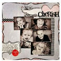 Heidi Swapp Love Notes Inspiration for scrapbook layout