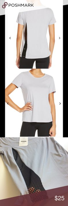 """Fabletics Hypnose Top NWT This great athleisure top is a relaxed fit soft jersey top with a cool mesh back panel. Cute even if you're not working out! 50% polyester; 50% cotton. Bust 35""""; length from shoulder 24"""". Machine wash. NWT. Fabletics Tops"""