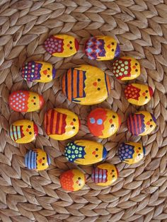 Easter Chick Collection - Painted Stone Magnets by Mesekavics