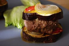 aubergine burger