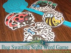 A cute bug swatting version of Sight Word Games