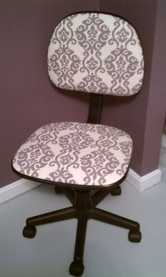 Re-Upholstered Office Chair
