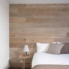 bedrooms - wood accent wall, bedroom accent wall,  Harper Sandilands  Flooring on the wall - pretty cool.