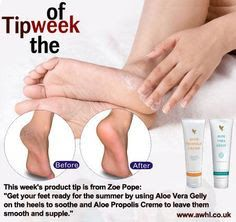 """Aloe Vera Gelly and Propolis Cream This week's product tip is from Zoe Pope: """"Get your feet ready for the summer by using Aloe Vera Gelly on the heels to soothe and Aloe Propolis Creme to leave them smooth and supple. Forever Aloe, Forever Living Aloe Vera, My Forever, Propolis Creme, Aloe Barbadensis Miller, Clean9, Forever Living Business, Forever Living Products, Aloe Vera Gel"""