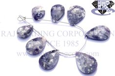 Morado Purple Opal Faceted Pear (Quality A+) Shape: Pear Faceted Length: 18 cm Weight Approx: 30 to 32 Grms. Size Approx: 17x21 to 19x30 mm Price $102.30 Each Strand