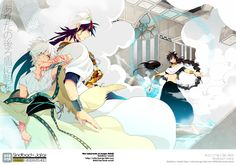 Sinbad & Ja'far (Sinja) & Judar - Magi: The Labyrinth of Magic Sinbad Magi, Magi 3, Magi Adventures Of Sinbad, Magi Kingdom Of Magic, Aladdin Magi, Anime Magi, Hottest Anime Characters, Manga Pictures, Manga Games