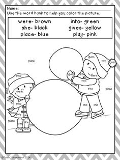 Coloring Sheets for Winter