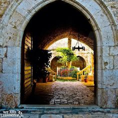 Childhood memories...That doorway... Infused with centuries of stories.  Over there, walls can talk...   BALAMAND monastery.  #lebanon #balamand #mylebanon