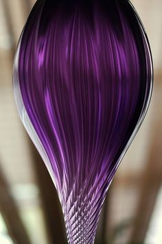 Purple glass and glass crystal ornaments. This purple is amazing!!