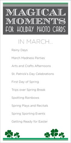 """""""Magical Moments"""" for each month... I'm going to make a monthly """"photo bucket list"""" as a reminder to take pictures!"""