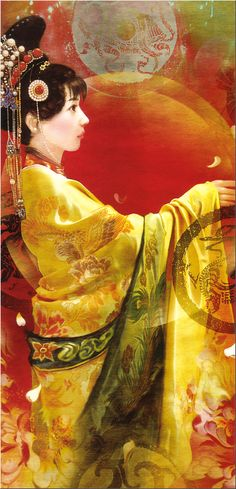 The World - China Tarot - your body is whole, your spirit dances, your soul knows what to do. Chinese Painting, Chinese Art, Caricatures, The World Tarot, China, Art Asiatique, Creative Pictures, Major Arcana, Cool Artwork