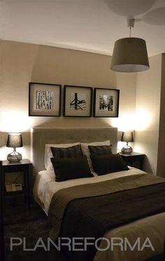 Dormitorio Estilo contemporaneo Color beige, beige, marron, negro  diseñado por Lucía del Barrio Pérez del Molino | Interiorista