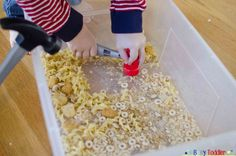 Crunchy Box: an easy toddler activity using stale food  ~ Great pin! For Oahu architectural design visit http://ownerbuiltdesign.com