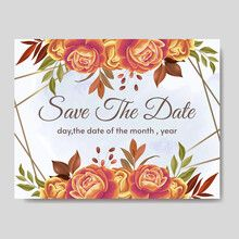 Sell stock photos, videos, vectors online | Adobe Stock Contributor Vector Online, Wedding Invitation Cards, Save The Date, Watercolor Leaves, Autumn, Flower Frame, Floral, Adobe, Vectors
