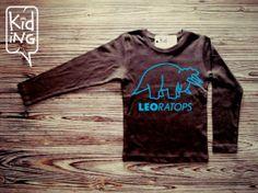 Camiseta triceratops marrón Kiding en Erizzos