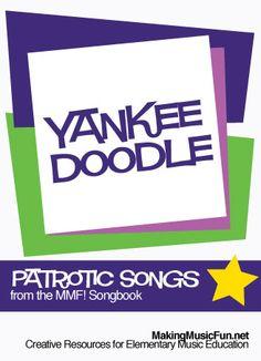 Yankee Doodle | Lyrics and Free Piano Sheet Music - http://makingmusicfun.net/htm/f_mmf_music_library_songbook/yankee-doodle-lyrics.htm