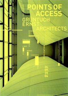 umbra + dor grafik Dieter Feseke, Frank Döring  Points of Access  Grüntuch Ernst Architekten, Berlin medialis druck, Berlin DIN A0