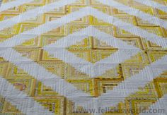 I don't know what it is with this yellow log-cabin quilt top that I just finished, but it has been a while since I completed a quilt-top that I am this pleased with. Something about collectin…
