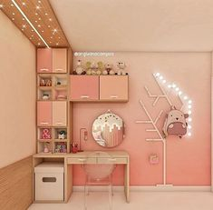 Girl Room, Child Room, Bedroom Decor, Bedroom Colors, Bedroom Ideas, Holidays And Events, Sweet Home, Barbie, Vanity