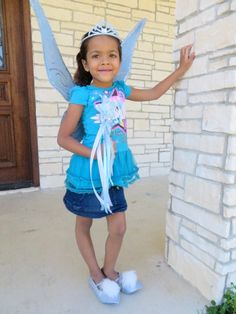 Custom Order for Joy Z from Weddington, NC Periwinkle fairy wings - wand - tiara and shoes