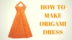Как сделать оригами платье из бумаги - оригами для начинающих - мастер к...