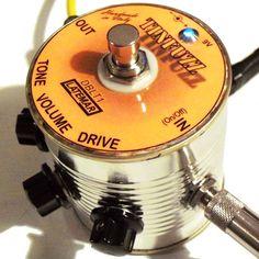 Latemar Tin Fuzz mounted inside a tin can