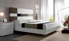 MOBENIA NUIT 09 Indian Bedroom Design, Bedroom Closet Design, Master Bedroom Design, Wood Bed Design, House Furniture Design, Bed Furniture, Bed Headboard Design, Headboards For Beds, Platform Bed Designs