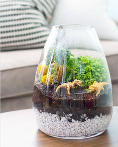 Make this, I love it!  Dino terrarium