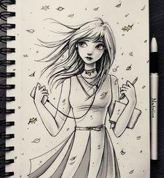 Autumn Leaves~Character Design Illustration by Natalico@deviantart.com