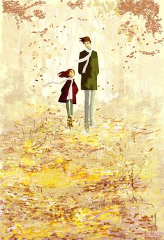 "Pascal Campion-""How many more. How many more days do we have before she's all grown up ? They did tell us that our children would grow fast. I don't think I really believed it until now. I heard it, I understood it. I didn't believe it. Art And Illustration, Pascal Campion, Autumn Art, American Artists, Graphic, Les Oeuvres, Amazing Art, Concept Art, Digital Art"