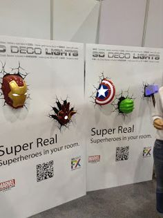 The Avengers Deco Lights Iron Man Captain America Thor The Hulk Thailand Comic Con 2014