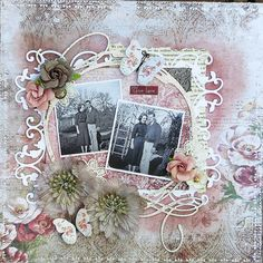 Scraps of Darkness scrapbook kits: Kathy Mosher created this beautiful shabby…