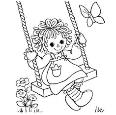 Colouring Pics, Disney Coloring Pages, Coloring Book Pages, Coloring Sheets, Coloring Pages For Kids, Raggedy Ann And Andy, Doll Quilt, Digi Stamps, Copics