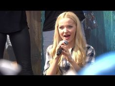 Descendants sing-along with cast during Fan Event at Downtown Disney - YouTube