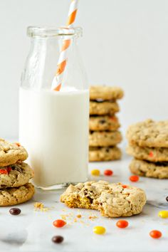Reese's Pieces Peanut Butter Cookies | My Baking Addiction